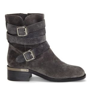 Vince Camuto Gray Webey Moto Bootie